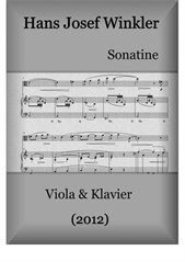 Sonatina (2012) for viola and piano