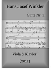 Suite No.1 with four dances (Duo with viola)